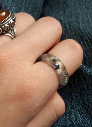 Кольцо с серебром и лавандой