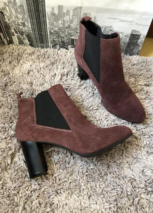 Красивые замшевые ботинки attizare оригинал
