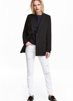 Узкие белые джинсы с разрывами h&m 36 р, 750 грн
