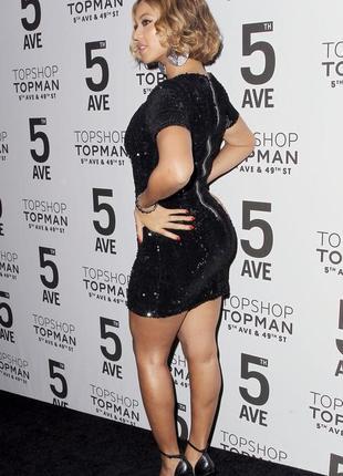 Бархатное черное платье с бархатными пайетками topshop