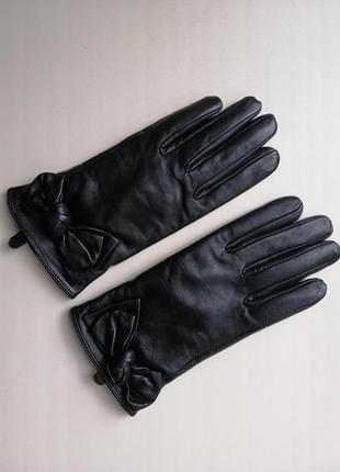 Кожаные перчатки dorothy perkins из натуральной, мягкой кожи, новые