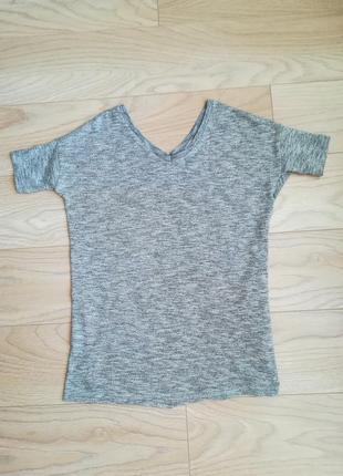 Удобная серая футболка, xs-s