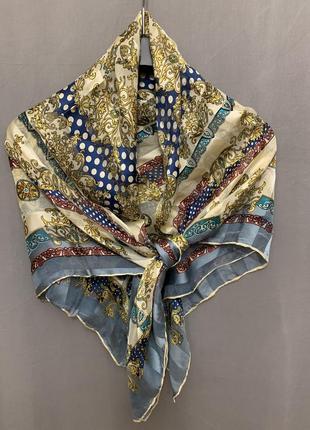 Винтажный шелковый платок