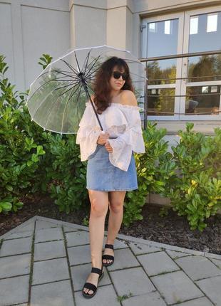 Парасоля прозора топ продажа якість 100% зонт прозрачный качество