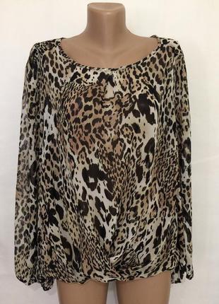 Шифоновая лёгкая блуза!!большой размер!!
