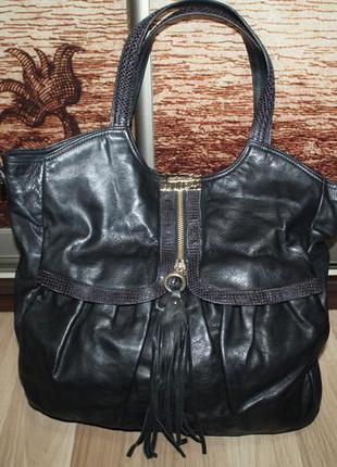 Шкіряна кожаная сумка jimmy choo x h&m
