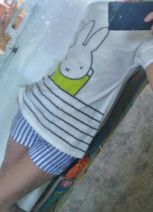 Удлиненная футболка туника (xs) cotton