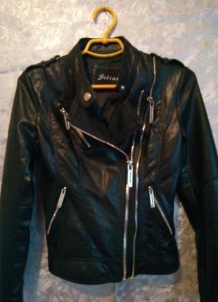 Кожанка косуха кожаная куртка курточка