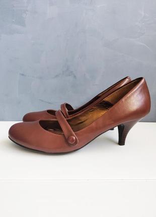 Кожаные ретро туфли next