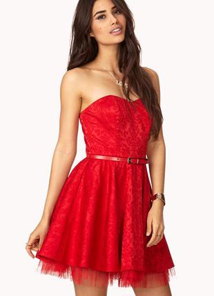 Мини-платье с пышной юбкой