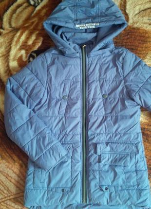 Модная куртка-парка деми на флисе для девочек 158, grace. венгрия!