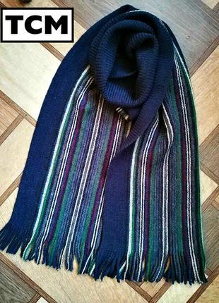 Стильный модный  шарф  в разноцветную  продольную полоску tcm, пр-во германия.