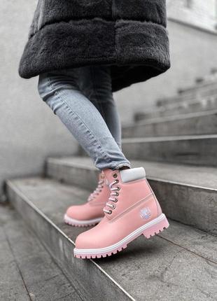 Шикарные женские зимние ботинки timberland без меха