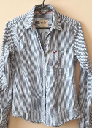 Офигенная хлопковая рубашка в полоску от hollister