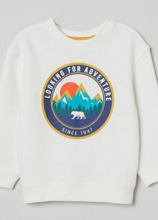 Свитшот, свитер h&m для мальчика р.110-140 (арт.26004)яя