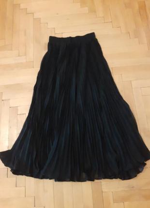 Длинная юбка плесировка шифоновая