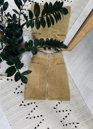 Вільветова юбка на замочку від f&f🌿