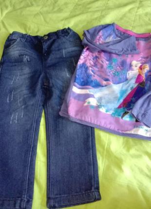 Джинсы плотные с заниженной пасадкой стильные джинсы реглан анна и эльза