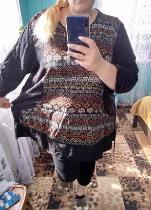 Велика блуза-туніка