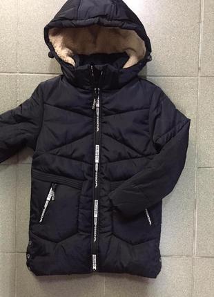 Очень стильная зимная курточка на мальчика