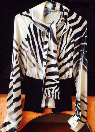 Шикарная блуза рубашка cavalli class оригинал