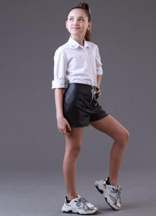 ♥ шорты для девочки эко кожа  ♥