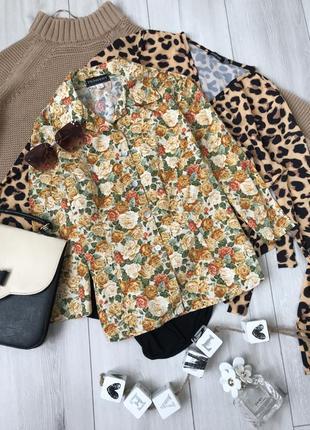 Рубашка в цветочний принт сорочка блузка