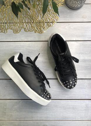 Vero moda кеды на шнуровке с заклепками