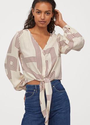 Блуза с пышным рукавом h&m
