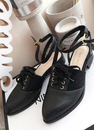 Туфли кожаные женские nine west