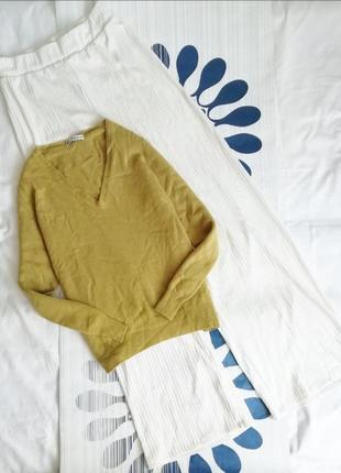 Кашемировый пуловер джемпер свитер реглан кашеміровий cashmere светр оливкового цвета