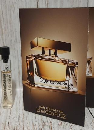 Dolce&gabbana the one парфюмированная вода
