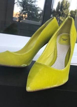 Туфли бархатные christian dior