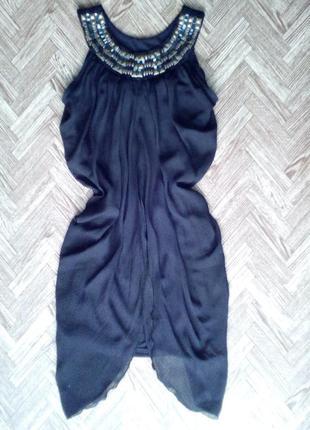 Коктельное платье с шифоном