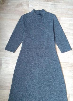 Красиве сіре плаття серое платье