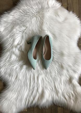 Туфельки из натуральной замши bianco, есть нюанс