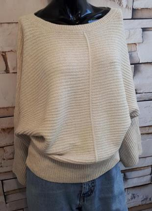 Обьемный теплый свитер over size .