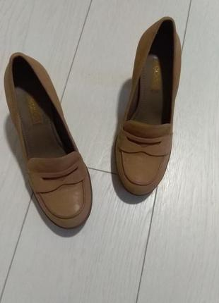 Туфли кожа оригинал италия рыжие беж 25.5 39