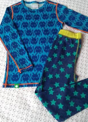 Термобілизна з мериносової шерсті комплект термобелье шерстяное штаны реглан штанишки