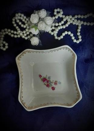 Креманка ссср фарфоровая с деколью пролетарий салатник ваза