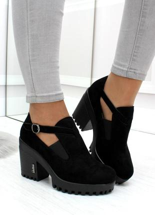 "Туфли ""flyer"" экозамша на каблуке"