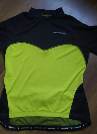 Велофутболка, велоджерси, красивая велосипедная футболка cannondale carbon. размер l-xl