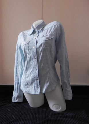 Стильная голубая рубашка bonita
