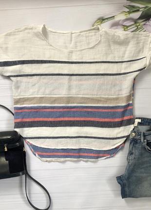 Легенька стильна літня лляна кофта кофточка блуза лен