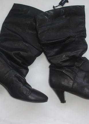 Фирменные кожаные деми сапоги на 40 размер идеал
