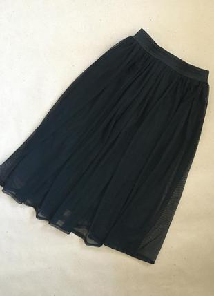 Чёрная юбка - пачка длина мили с подкладом