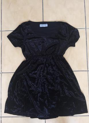 Платье бархатное велюровое american apparel