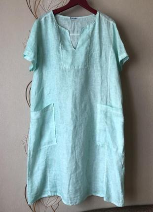 Итальянское новое платье/ льняное платье
