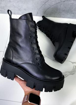 Количество ограничено! крутые кожаные ботинки