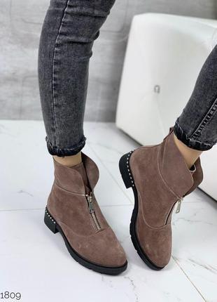 Ботиночки =nikart= из натуральной замши